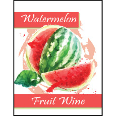 Watermelon Fruit Wine Self Adhesive Wine Labels, pkg of 30
