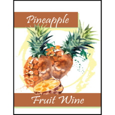 Pineapple Fruit Wine Self Adhesive Wine Labels, pkg of 30