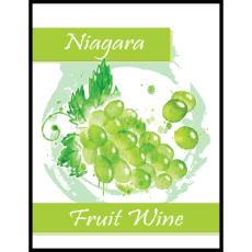 Niagara Fruit Wine Self Adhesive Wine Labels, pkg of 30