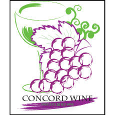 Concord Fruit Wine Self Adhesive Wine Labels, pkg of 30