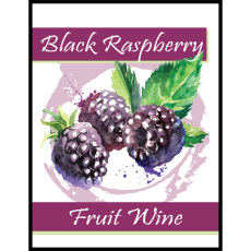 Black Raspberry Fruit Wine Self Adhesive Wine Labels, pkg of 30