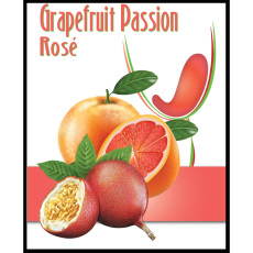 Grapefruit Passion Rose Self Adhesive Wine Labels, pkg of 30