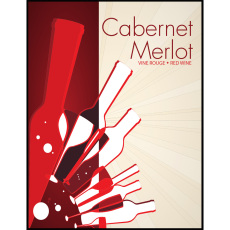 Cabernet Merlot Self Adhesive Wine Labels, pkg of 30