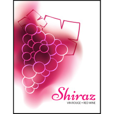Shiraz Self Adhesive Wine Labels, pkg of 30