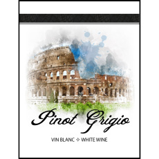 Pinot Grigio Self Adhesive Wine Labels, pkg of 30