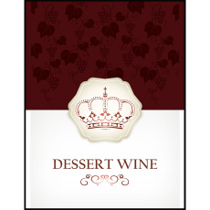 Dessert Wine Self Adhesive Wine Labels, pkg of 30