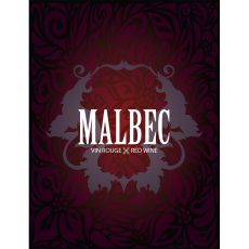 Malbec Self Adhesive Wine Labels, pkg of 30