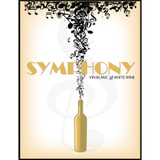 Symphony Self Adhesive Wine Labels, pkg of 30