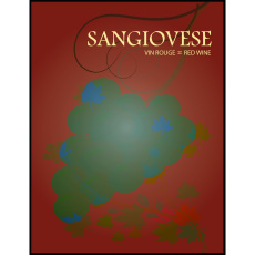 Sangiovese Self Adhesive Wine Labels, pkg of 30