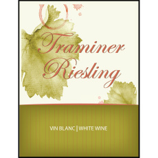 Traminer Riesling Self Adhesive Wine Labels, pkg of 30