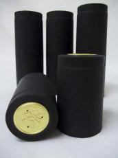 Black Shrink Caps - Oversize - 30 Count