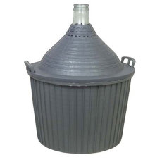 54 Liter (14 Gallon) Glass DemiJohn with Plastic Basket