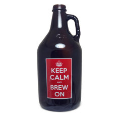 64 oz. Keep Calm Amber Growler