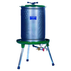 80L Marchisio Bladder Press for Grapes and Other Crushed Fruit with 21 Gallon Capacity - Stainless Steel Cage