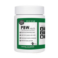 PBW Tablets, 50 tabs, 2.5g - for Growlers, Spray Bottles and Glassware