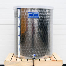 Kombucha Tank 100 Liter Stainless Steel with Dust Cover and Ball Valve