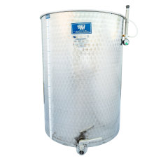 500 Liter Stainless Steel Variable Capacity Stainless Steel Tank with Tri-Clamp Butterfly Valve and Floating Lid by Marchisio
