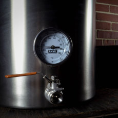 10 Gal Anvil Kettle Valve and Thermometer