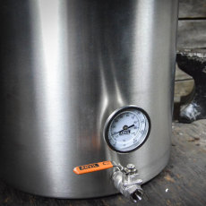 20 Gal Anvil Kettle Valve and Thermometer