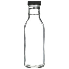 12 oz Clear BBQ Bottles with Caps, 12 per Case