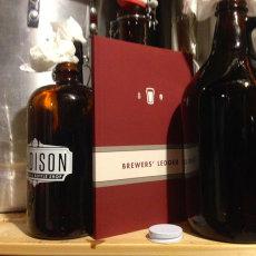 Brewer's Ledger Homebrew Notebook Shelf