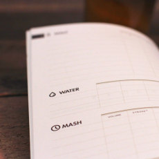Brewer's Ledger Homebrew Notebook Water and Mash