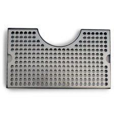 12 in. Stainless Steel Counter Mount Drip Tray w/Cutout_1