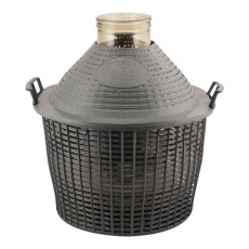 Wide Mouth DemiJohn - 34 Liter - 9 Gallon - with Plastic Basket