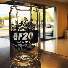 GF 20th Anniversarry Can Glass