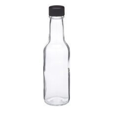 5 oz Clear Woozy Sauce Bottles with Caps, 12 per Case