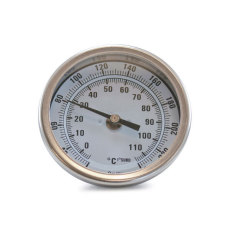 Fermentap 6 in. Brew Pot Thermometer Front