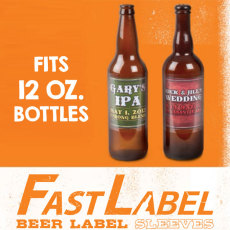 FastLabel 12 oz. No Adhesive Label Sleeves - 70 ct.