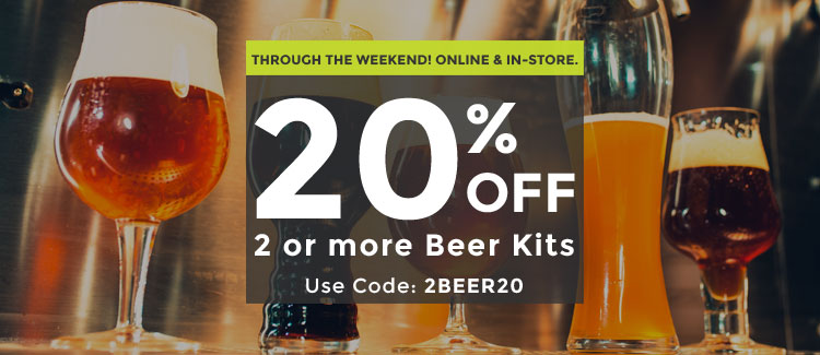 20% OFF Two or More Beer Kits