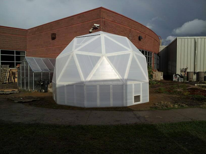 Geodesic Dome Greenhouse using Solexx greenhouse covering.