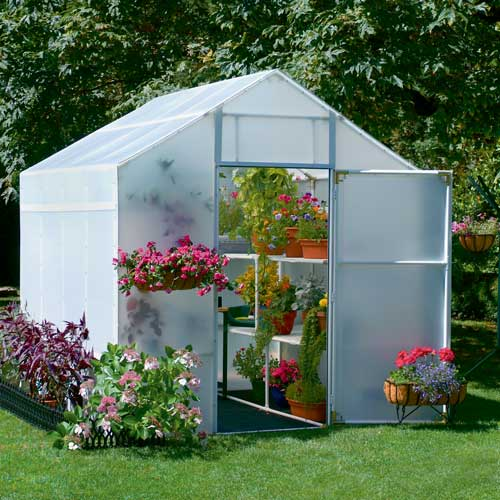 8' x 8' Solexx Garden Master Backyard Greenhouse