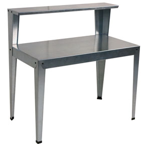 Galvanized Potting Bench with Shelf