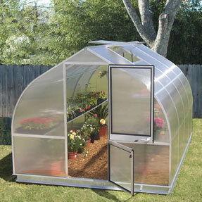 "Riga Deluxe Greenhouse Kit - 9'8"" x 14' x 7'6"""