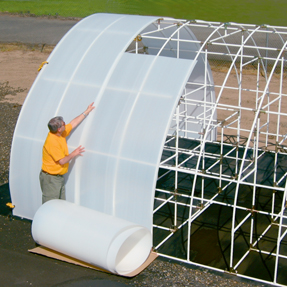 Solexx Greenhouse Covering is easy to attach to a greenhouse frame.
