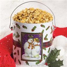 Snowman Popcorn Tin