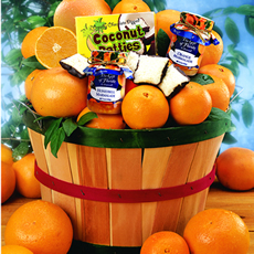 Deluxe Grove Basket Navels/Ruby Red Grapefruit - Deluxe Navel Oranges & Ruby Reds Grove Basket