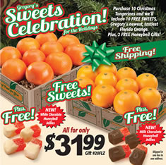 Free Shipping!  Gregory's Sweets Celebration