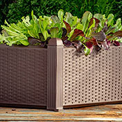 Wicker-Look Raised Garden Bed Set