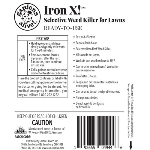 IRON X!<sup>™</sup> Selective Weed Killer & Herbicide