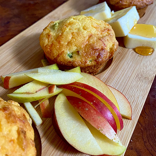 Baker's Delight<sup>™</sup> Apple, Cheddar and Corn Muffins