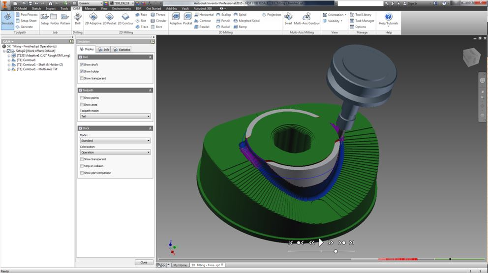 Autodesk Adds 5-Axis Functionality to Inventor® HSM