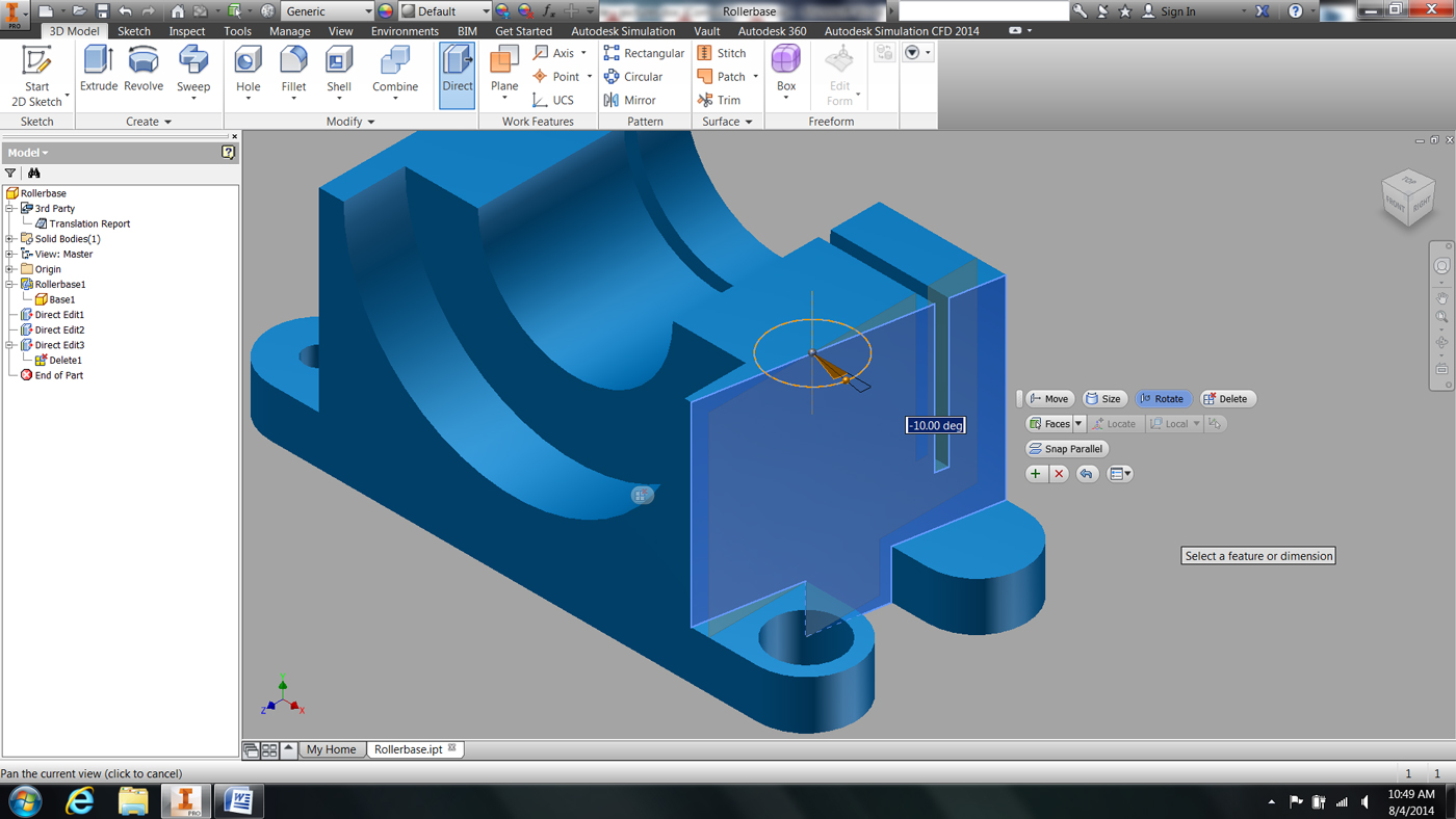 Autodesk® Inventor® 2015 – Direct Edit Capabilities