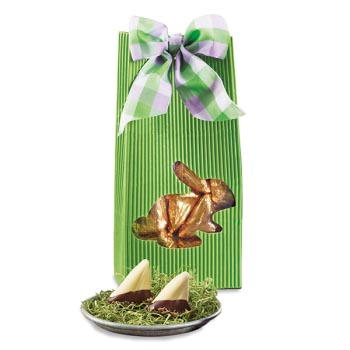 Green Bunny Pouch with Sweet Sloops