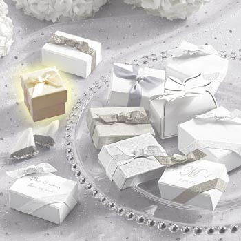 Ivory Favor Box - Set Of 10