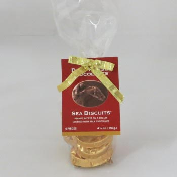 Peanut Butter Sea Biscuits Clear Bag - 6 pc