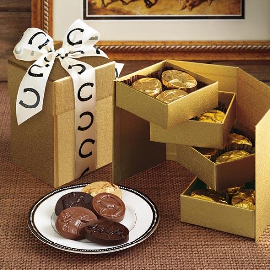 Gold 4 Tier Cube Box - 24 pc